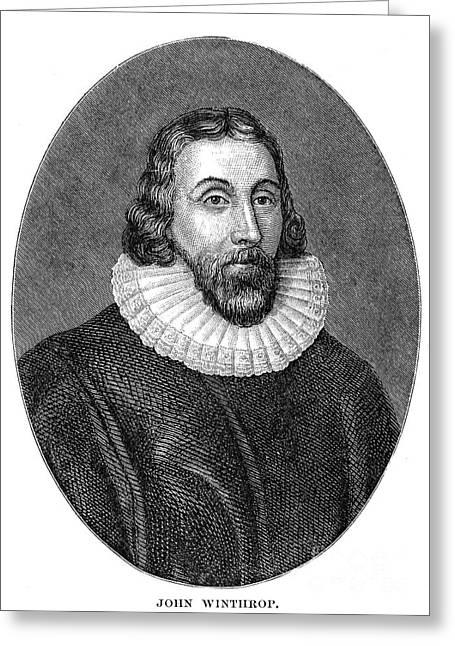 Winthrop Greeting Cards - John Winthrop (1588-1649) Greeting Card by Granger