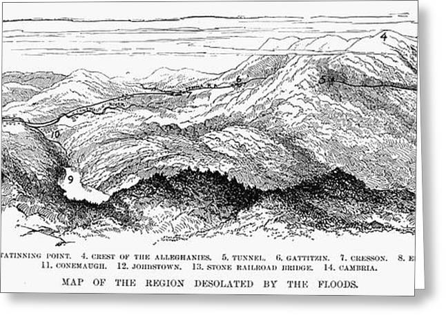 Cambria Photographs Greeting Cards - Johnstown Flood, 1889 Greeting Card by Granger