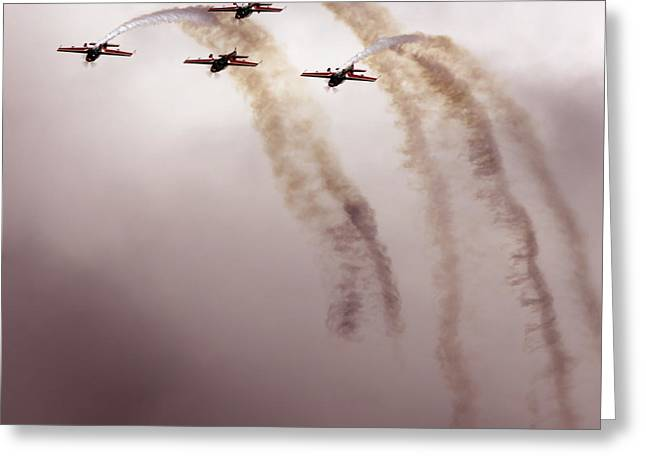 Aerobatic Greeting Cards - Jordanian Falcons Greeting Card by Angel  Tarantella