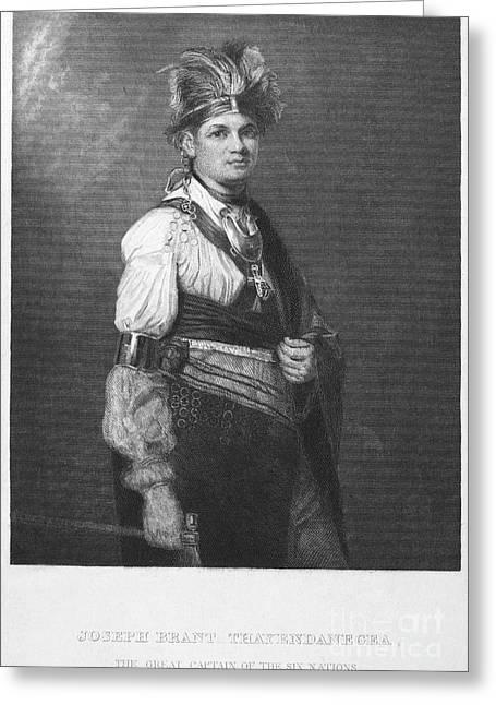 Chief Joseph Greeting Cards - Joseph Brant (1742-1807) Greeting Card by Granger