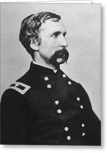 Gettysburg Greeting Cards - Joshua Lawrence Chamberlain  Greeting Card by War Is Hell Store