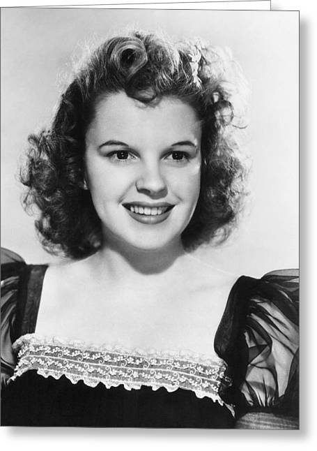 1950s Music Greeting Cards - Judy Garland (1922-1969) Greeting Card by Granger