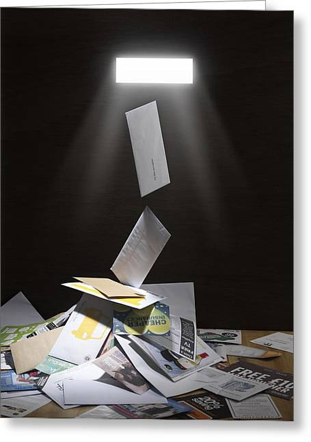 Postal Greeting Cards - Junk Mail Greeting Card by Tek Image