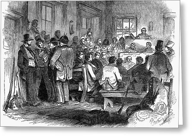 KANSAS-NEBRASKA ACT, 1855 Greeting Card by Granger