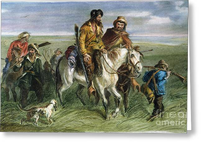 Ruffian Greeting Cards - Kansas-nebraska Act, 1856 Greeting Card by Granger