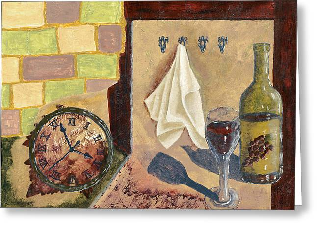 Susan Schmitz Greeting Cards - Kitchen Collage Greeting Card by Susan Schmitz