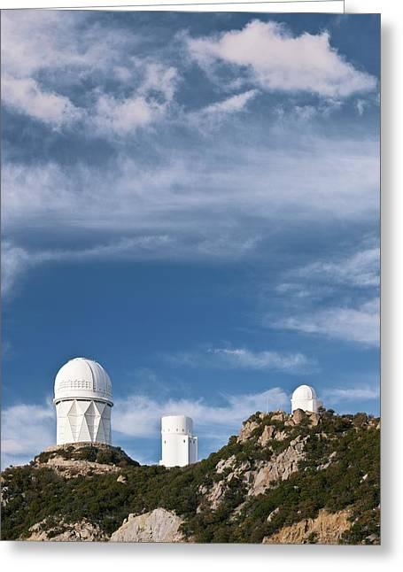 Steward Greeting Cards - Kitt Peak National Observatory Greeting Card by David Nunuk