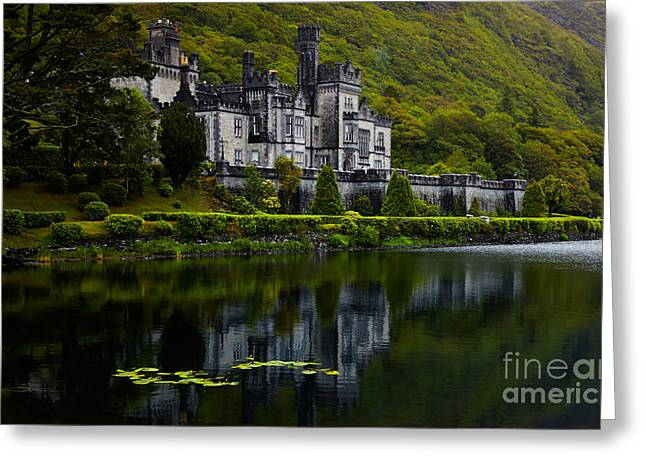Color Green Greeting Cards - Kylemore Abbey Greeting Card by Gabriela Insuratelu