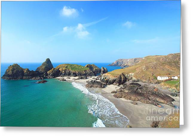 Cornwall Greeting Cards - Kynance Cove Greeting Card by Carl Whitfield