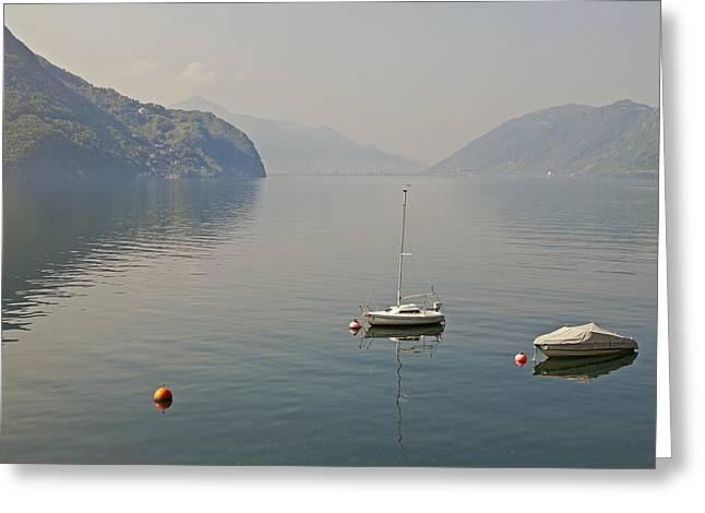 Lago Di Lugano Greeting Card by Joana Kruse