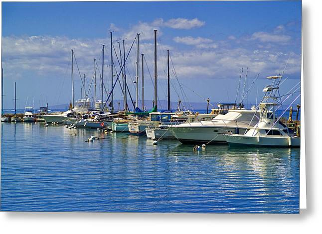 Lahaina Greeting Cards - Lahaina Harbor Greeting Card by David Cornwell/First Light Pictures, Inc - Printscapes