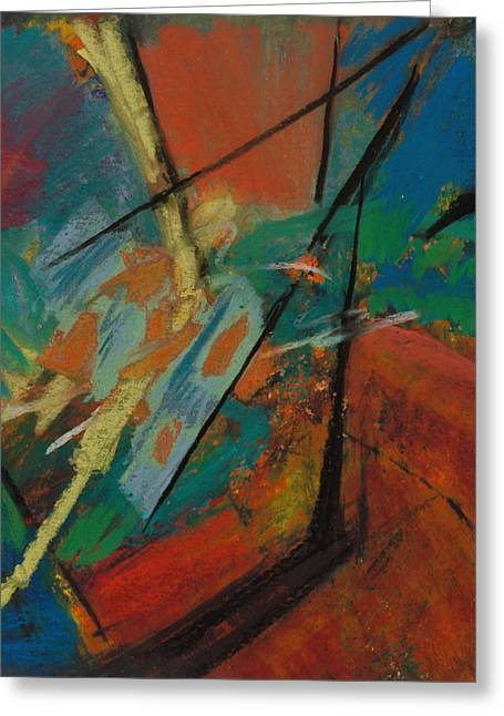 Blue And Green Greeting Cards - Landing Sight Greeting Card by Ethel Vrana