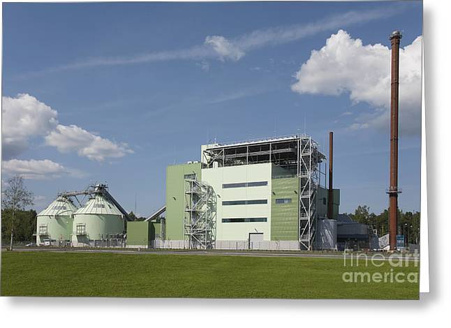 Power Plants Greeting Cards - Large Power Plant Greeting Card by Jaak Nilson