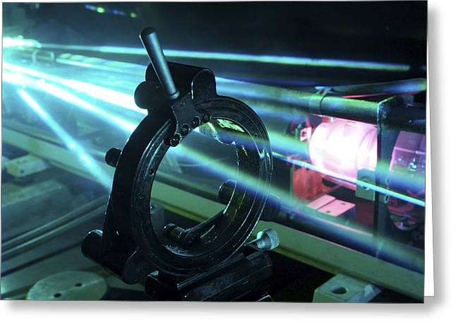Automation Greeting Cards - Laser Research Greeting Card by Ria Novosti