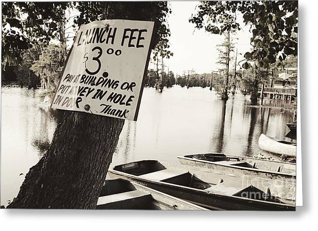 North Louisiana Greeting Cards - Launch Fee Greeting Card by Scott Pellegrin