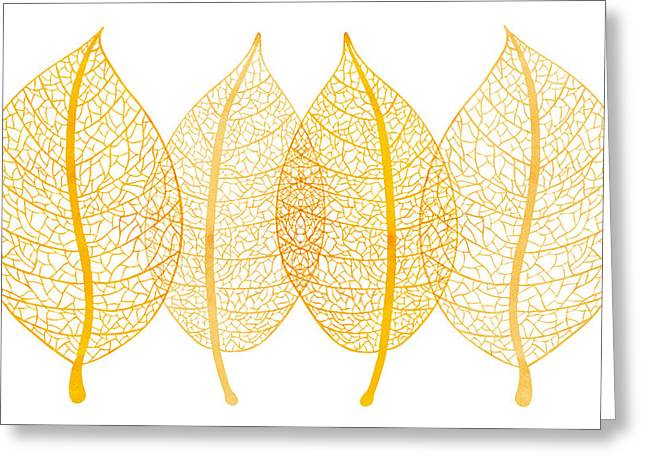 Botanical Greeting Cards - Leaves Greeting Card by Frank Tschakert