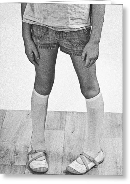 Girlie Greeting Cards - Legs Of A Girl Greeting Card by Joana Kruse