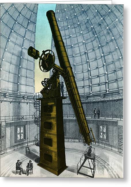 Diameter Greeting Cards - Lick Observatory, Mount Hamilton, Ca Greeting Card by Science Source