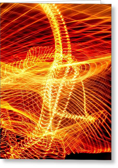 Swirls And Stripes Greeting Cards - Light Patterns Greeting Card by Pasieka