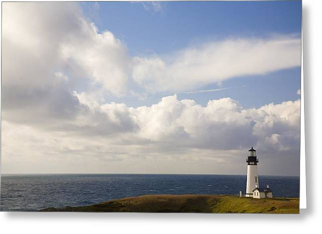 Lighthouse, Oregon, United States Of Greeting Card by Craig Tuttle