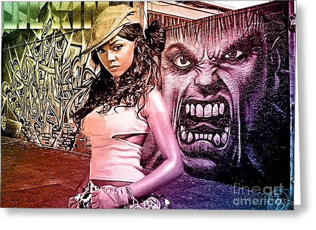 Lil Kim Greeting Card by The DigArtisT