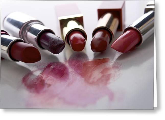 Inside Greeting Cards - Lipsticks Greeting Card by Bernard Jaubert