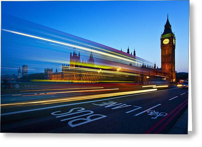 Big Game Greeting Cards - London Big Ben Greeting Card by Nina Papiorek