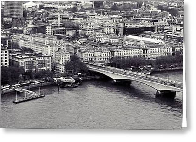 White River Greeting Cards - London Greeting Card by Sharon Lisa Clarke