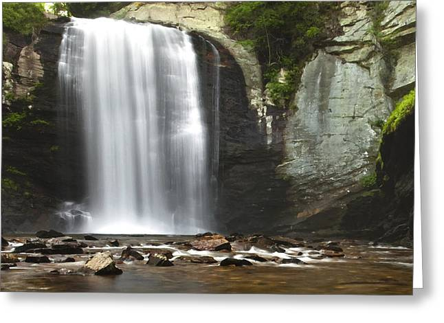 Look Photographs Greeting Cards - Looking Glass Falls Greeting Card by Andrew Soundarajan