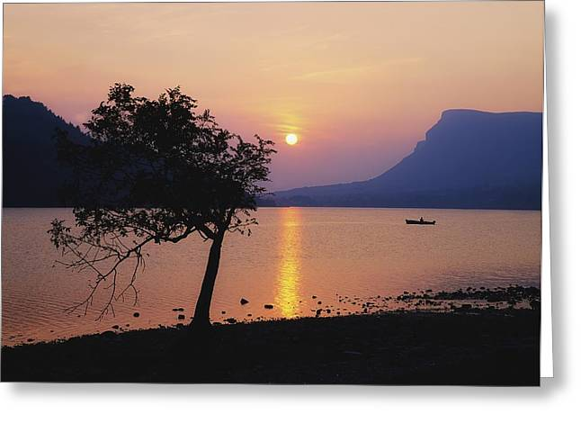 Reflections Of Sky In Water Greeting Cards - Lough Gill, Co Sligo, Ireland Irish Greeting Card by The Irish Image Collection