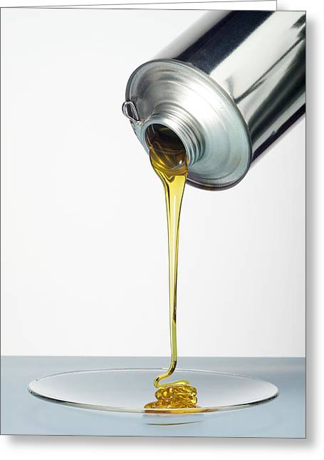 Lubricate Greeting Cards - Lubricating Oil Greeting Card by Paul Rapson