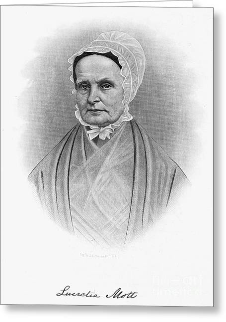Mott Greeting Cards - Lucretia Coffin Mott Greeting Card by Granger