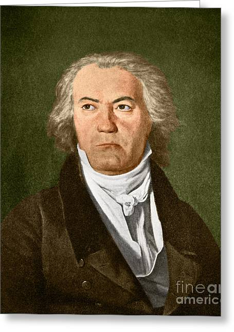 Completely Greeting Cards - Ludwig Van Beethoven, German Composer Greeting Card by Omikron