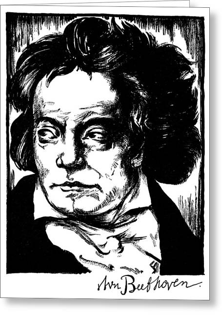 Autograph Greeting Cards - LUDWIG van BEETHOVEN Greeting Card by Granger