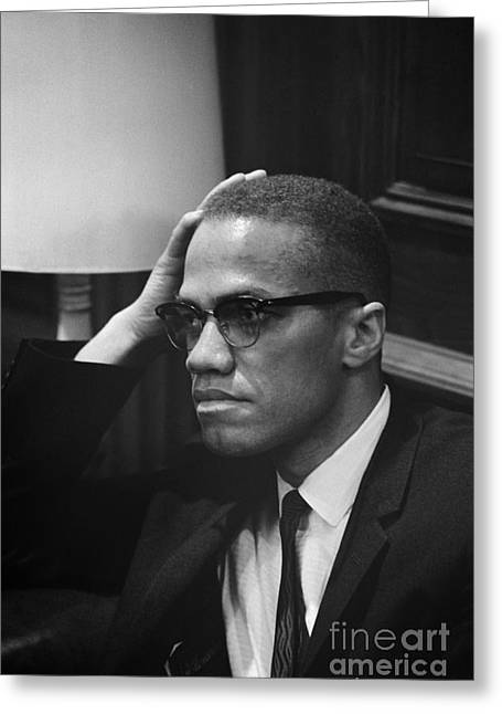 Trikosko Greeting Cards - Malcolm X (1925-1965) Greeting Card by Granger