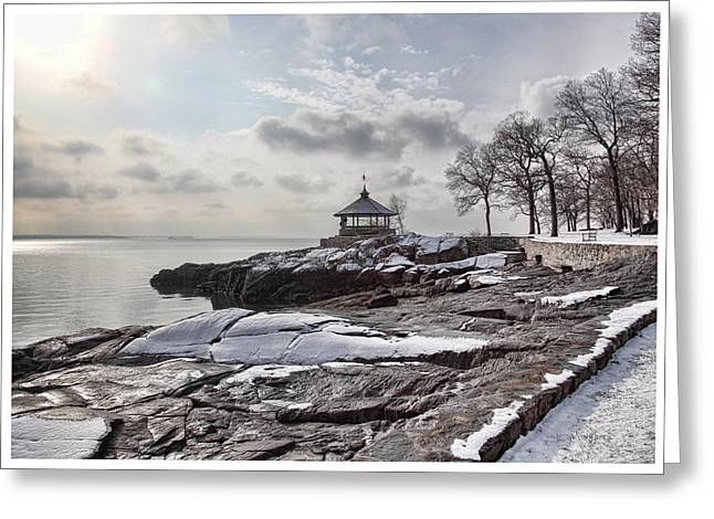 Winter Park Greeting Cards - Manor Park Greeting Card by June Marie Sobrito
