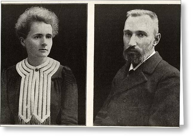 Discoverer Greeting Cards - Marie And Pierre Curie, French Physicists Greeting Card by Humanities & Social Sciences Librarynew York Public Library