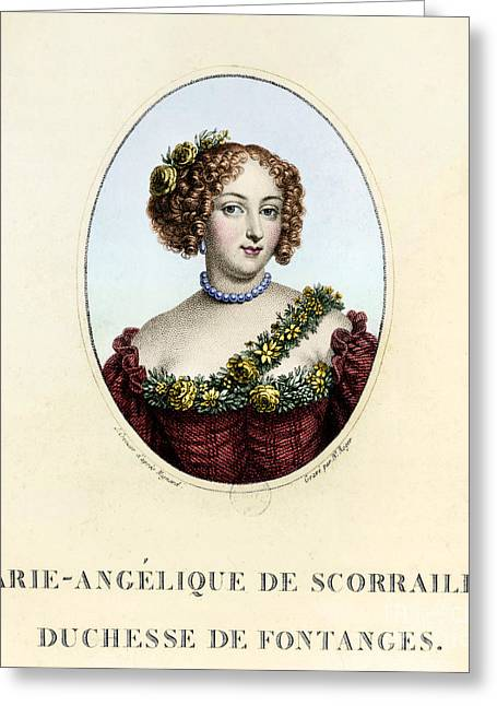 Oval Photographs Greeting Cards - Marie-angÉlique De Rousille Greeting Card by Granger