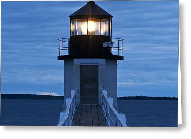 Marshall Point Light Greeting Card by John Greim