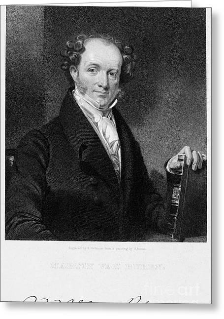 Autograph Greeting Cards - Martin Van Buren (1782-1862) Greeting Card by Granger