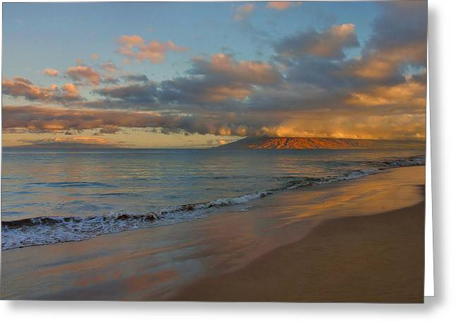 Tropical Island Greeting Cards - Maui Dawn Greeting Card by Stephen  Vecchiotti