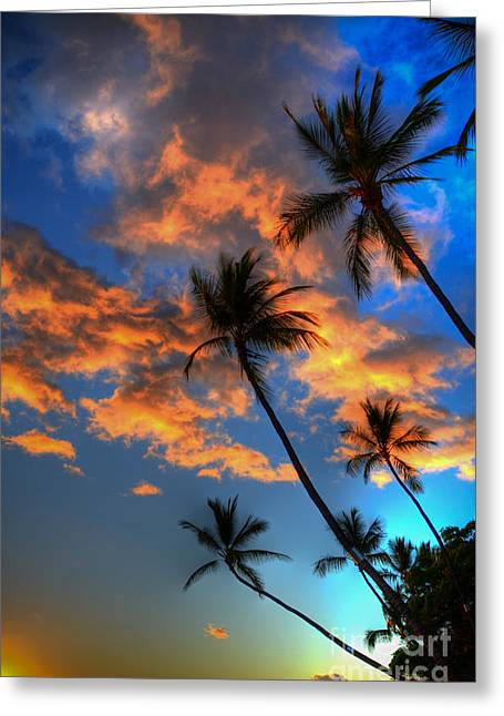 Beach Photographs Greeting Cards - Maui Sunset Greeting Card by Kelly Wade