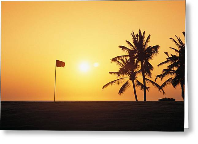 Tropical Golf Course Greeting Cards - Mauna Kea Beach Resort Greeting Card by Carl Shaneff - Printscapes