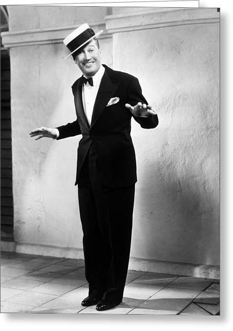 Tuxedo Greeting Cards - Maurice Chevalier Greeting Card by Granger