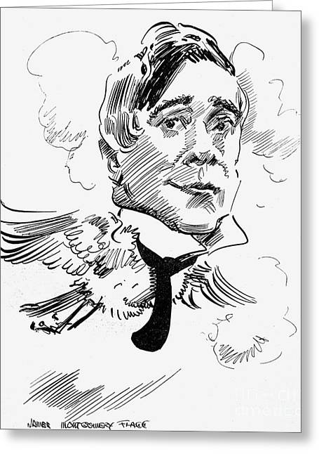 Flagg Greeting Cards - Maurice Maeterlinck Greeting Card by Granger