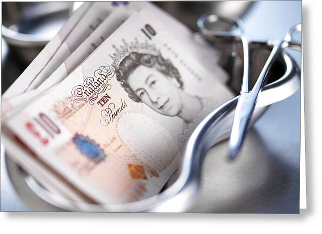 Gbp Greeting Cards - Medical Costs Greeting Card by Adam Gault