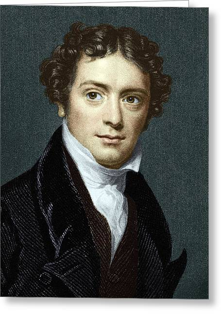 Recently Sold -  - Dynamos Greeting Cards - Michael Faraday, British Physicist Greeting Card by Sheila Terry