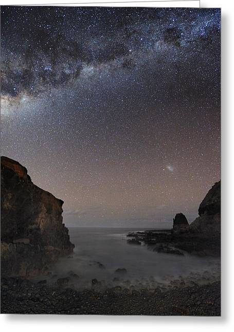 Milky Way Over Cape Schanck, Australia Greeting Card by Alex Cherney, Terrastro.com