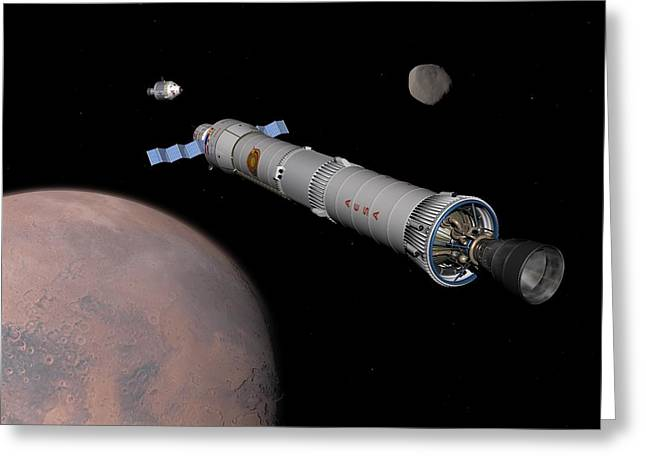 Astronautics Greeting Cards - Mission To Mars, Artwork Greeting Card by Walter Myers