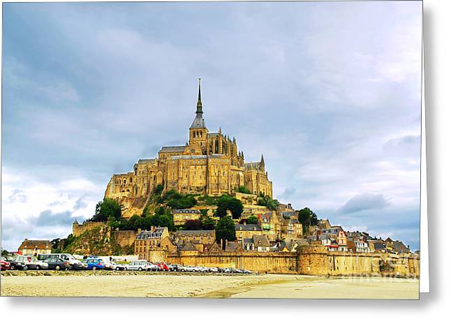 Fortification Greeting Cards - Mont Saint Michel Greeting Card by Elena Elisseeva